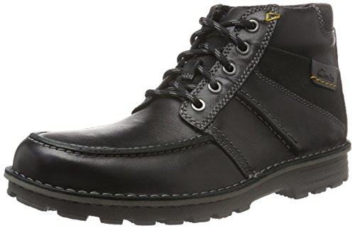 Clarks Sawtel Summit, Stivaletti Uomo, Nero (Black Leather), 41 EU