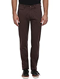 Classic Polo Cotton Men's Solid Casual Fit Casual Trouser