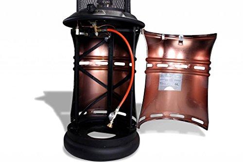 Traedgard Gas Heizstrahler Milano Kupfer mit Glasröhre 190 cm, versenkbar, mit Schutzhülle, Rollen und Gastroset, 65590 - 4