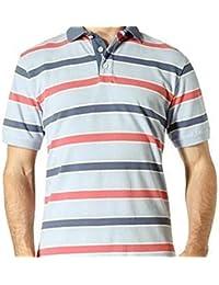 a00c0b3c74f Gant Rugger Shadow Stripe Men's Pique Polo Shirt Colour Lake Blue