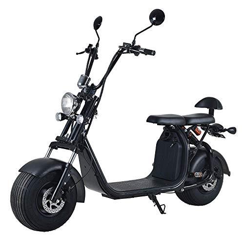Elektroroller mit Straßenzulassung Chopper X7, E-Scooter E-Roller 45 km/h Straßenzulassung, Schwarz