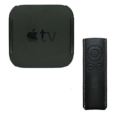 Markstore(TM) 3M collant Mont Hanging Titulaire Cradle Support Et un boîtier de la télécommande pour Apple TV 2 3