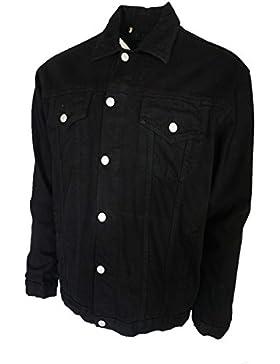 Para hombre Aztec tela vaquera Jean chaquetas Stonewash y negro Tallas de la S a 5X L