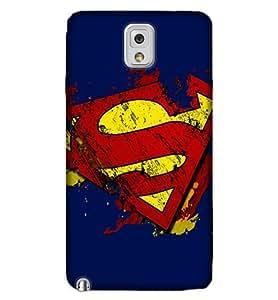 Note3 HD Print SuperHero Back Cover SUPERMAN13