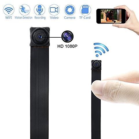 Caméra Espion WIFI TANGMI 1920x1080P HD Mini Caméra Cachée Sans Fil Détection de Mouvement Caméscope DV DIY 7/24 Heures de Travail Android iPhone IOS