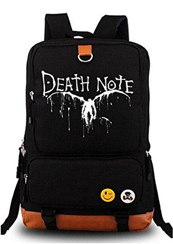 Gumstyle Anime Death Note, leuchtendes großes Fassungsvermögen, für Cosplay-Rucksack, Schwarz und - Light Yagami Cosplay Kostüm