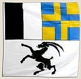 Flagge Schweiz Kanton Graubünden - 90 x 90 cm [Misc.]