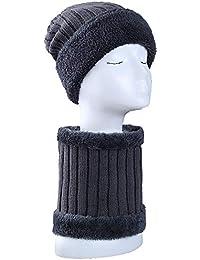GFLD Berretto di Lana Autunno Inverno Uomini più di Velluto Ispessimento  Caldo Collo i Pezzi Lavorati 8ac6dcce5016