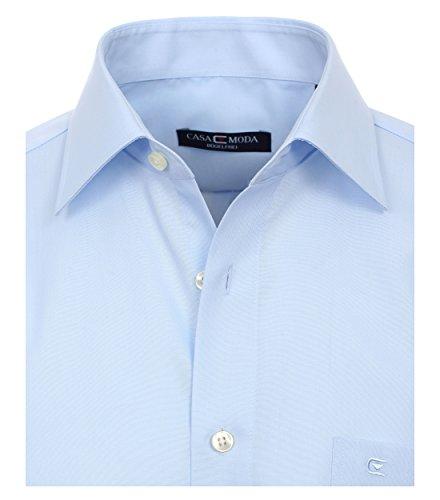 Michaelax-Fashion-Trade CASA Moda - Comfort Fit - Bügelfreies Herren Business Langarm Hemd Verschiedene Farben (006050) Blau (14)