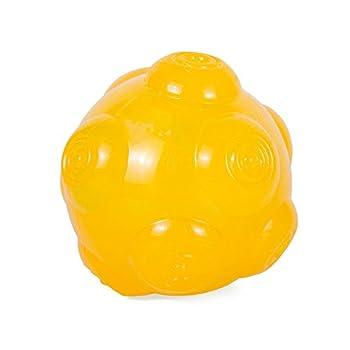 Petcomer Jouet Sonore Indestructible pour Chiens Balle Bondissant Imprévisible Jouet en Caoutchouc Non-Toxique pour Entaînement Interactive
