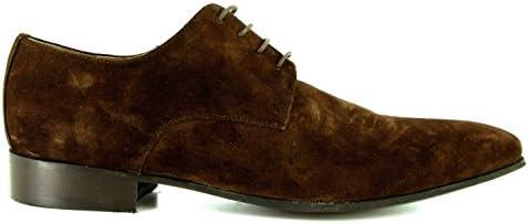 J.Bradford - Zapatos Hombre Richelieu Daryl Marron