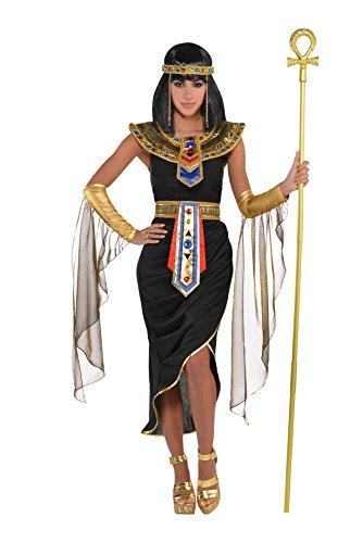 Este giro sexy al disfraz clásico de Cleopatra es esencial para cualquier evento de disfraces. En color negro y dorado en lugar del aburrido blanco, es una versión más sexy y majestuosa. Con las bandas y gasas doradas para el brazo, te sentirás como ...