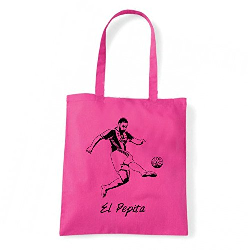 Art T-shirt, Borsa Shoulder El Pepita, Shopper, Mare Fucsia