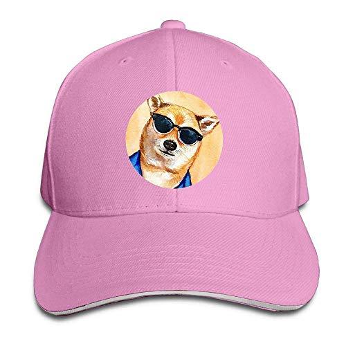 Kotdeqay Unisex Snapback Hip Hop Flat Hat Outdoor Capss Dog Face Classic Adjustable OL4324