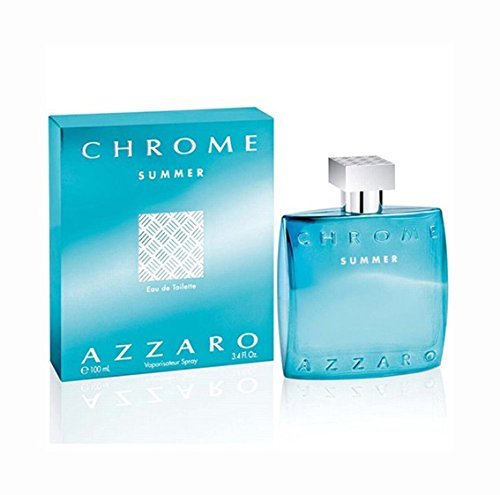 Loris Azzaro Chrome Summer Eau de Toilette Spray for Men, 3.4 Ounce