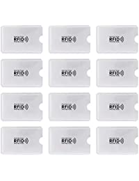 Mangas de Bloqueo de RFID, Paquete de 12 Seguros de Bloqueo de RFID para Tarjeta