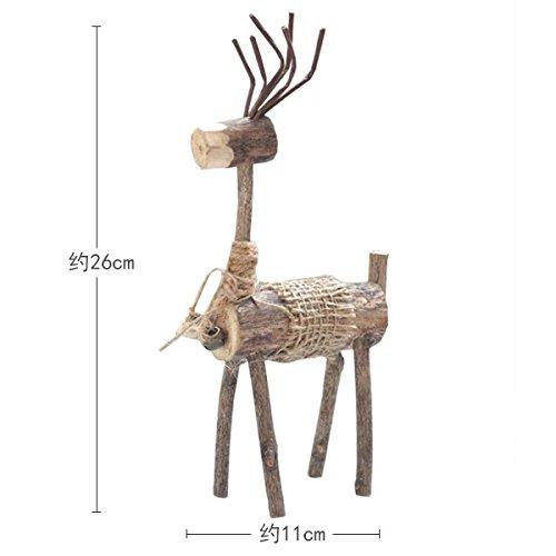 SQBJ Der hölzerne Rotwild Sen Abteilung für kreative Dekoration Ausstattung schmuck Kunsthandwerk Anzeige elk Tier dekorative Seil, Filiale Geld