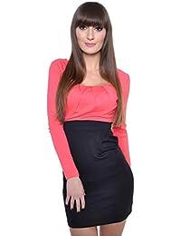 8439 Longshirt Tunika Top mit Raffung 2 farbig Gr S M L XL 2XL 3XL