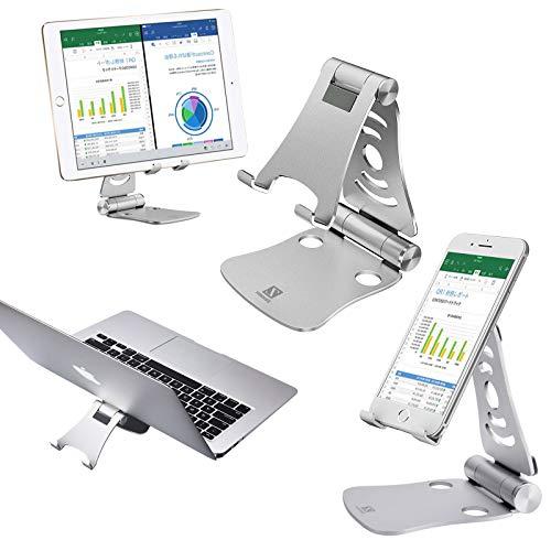 """Zeiger Faltbar Tablet Ständer Multi-Winkel Handy Halterung für 4-13\"""" Tablet Tischhalter Silber 2.0"""