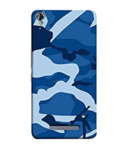 PrintVisa Designer Back Case Cover for Micromax Canvas Juice 3 Q392 (Texture Paint Drawing Sky Blue White)