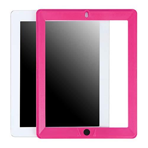 Ersatz-Displayschutzfolie für HDE Dual Layer stoßfeste iPad-Hüllen, kompatibel mit Apple iPad 9.7 Tablets der 2. und 3. Generation (ältere Versionen 2011-2013) - nur Displayschutzfolie Pink Rose (Ipad-tablet Der 3. Generation)