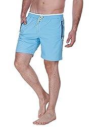 Zobello Mens Swim Shorts (41001B_Blue_Large)