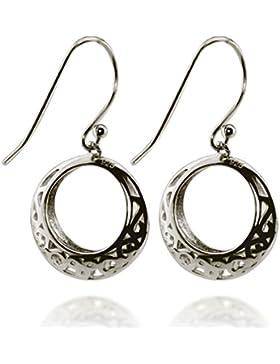 Kinder-Ohrringe 925 Silber Hängeohrringe Ornament Creolen