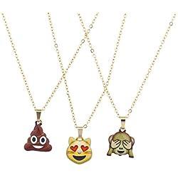"""LUX accesorios dorado Charm Collar con diseño de emoji """"pila de Chocolate"""