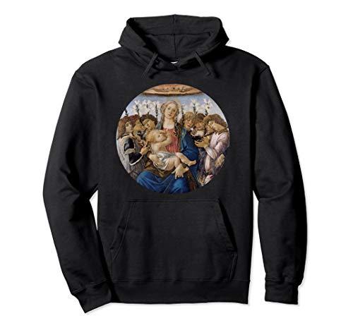 Madonna und Kind mit acht Engeln durch Sandro Botticelli Pullover Hoodie -