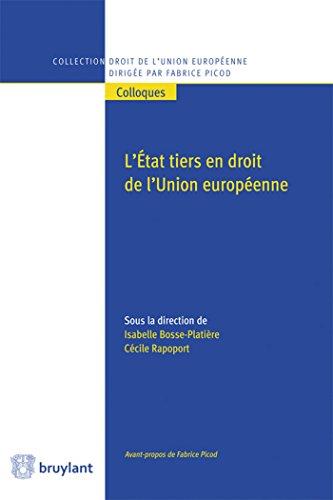 L'État tiers en droit de l'Union européenne