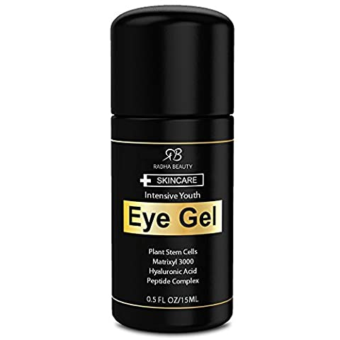 Eye Gel for Dark Circles, Puffiness, Bags & Wrinkles - The most effective eye cream for every eye concern - All Natural - .5 fl
