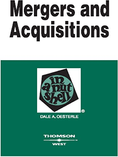 Mergers and Acquisitions in a Nutshell, 2d por Dale Oesterle