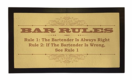BANG TIDY CLOTHING Bar Läufer Funny Bar Rules Home oder Pub Bar Matte Herren Geschenkidee