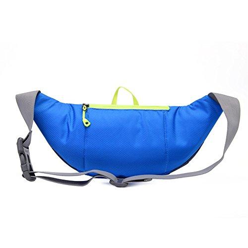 Ibssports Hüfttasche Multi-Function Gürteltasche Wasserabweisende Bauchtasche Flache Taille Tasche zum Sport und Reisen Blau