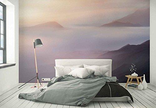 Wolken Wallpaper (Vlies Fototapete Fotomural - Wandbild - Tapete - Berge Wolken Himmel Nebel - Thema Himmel und Wolken - L - 254cm x 184cm (BxH) - 2 Teilig - Gedrückt auf 130gsm Vlies - 1X-1275534V4)