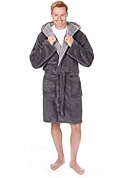 5e7832ddd5 Pierre Roche Men s Luxury Snuggle Fleece Hooded Dressing Gown (Sizes M-2XL)  Thick