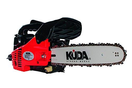 "KUDA Motosierra gasolina poda 25,4cc 12""-30cm con 2 cadenas extras"