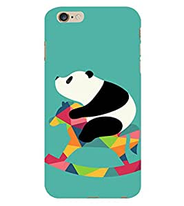 PrintVisa Cute Panda Animal Playing 3D Hard Polycarbonate Designer Back Case Cover for Apple iPhone 6S Plus
