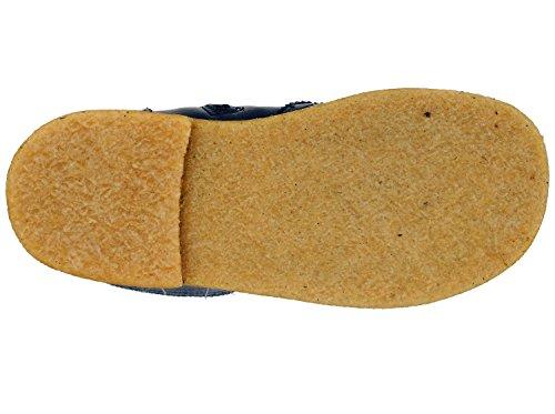 Zecchino d'oro 06–660 a, bottes fille Bleu - Blau/Karomuster