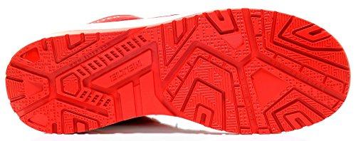 Elten Maverick Rosso Basso Esd S3 Uomo Scarpe Di Sicurezza, Scarpe Da Lavoro, Scarpe Di Sicurezza, Certificate En Iso 20345: S3, Puntale In Acciaio Rosso