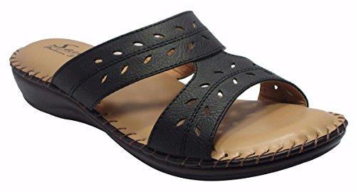 Sammy sandales plates des femmes occasionnels à la mode des tongs de flottaison extérieur Noir