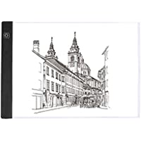 Caja de Luz LED de Cuadro de Luz Regulable SIKIWIND A4 Tableros de Dibujo de Seguimiento Ultradelgada para 5D Pintura de Diamante DIY - Bocetos - Dibujo de Artistas y Animación etc(Negro)