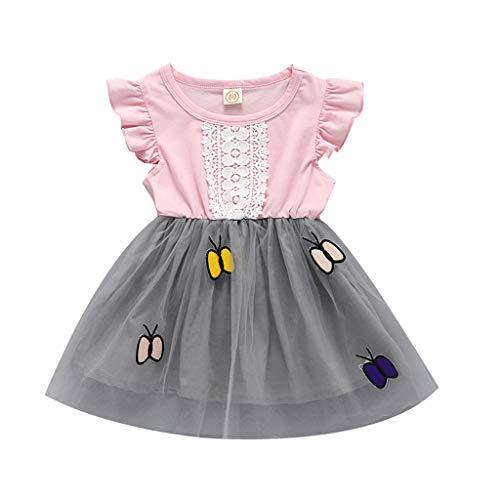 ng Set - Strampler Baby Mädchen Kleider Baumwolle Prinzessin Kostüm Neugeborene Polka Dots Rock Tutu Kleid ()