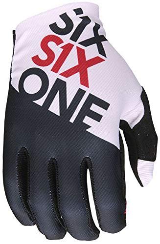 SixSixOne Raji Handschuhe Herren Black/White Handschuhgröße L | 10 2019 Fahrradhandschuhe -