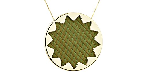 house-of-harlow-1960-sunburst-necklace-green-leather-pendant-with-14-k-gold-gilding