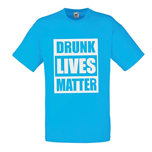 Männer T-Shirt Drunk Lives Matter Funny Saint Patricks Shirts, St Patty's Day Clothing (Large Blau Mehrfarben) (Dragon Komfort-hose)
