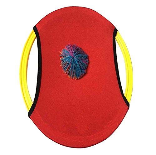 (Kinder im Freien Elternteil-Kind-Spielwaren-lustiger elastischer Ball-Platte-Rot)