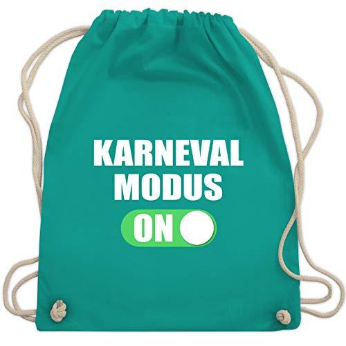 - Karneval Modus ON - Unisize - Türkis - WM110 - Turnbeutel & Gym Bag ()