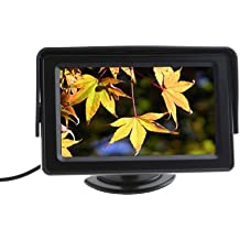 "Monitor por Camara - TOOGOO(R)4.3"" Color TFT LCD Coche Vista trasera sistema Monitor por Camara DVD VCR"