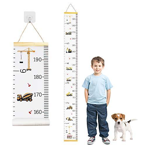 Gráfico De Crecimiento Para Niños Tabla De Crecimiento Regla De Medición De Altura De Pared Medidor De Altura Infántil Con 1 Gancho Colgante 20 x 200cm
